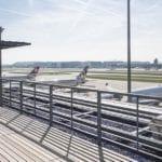 チューリッヒ空港の展望台