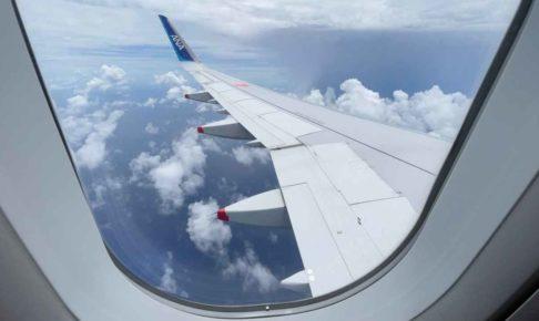 ANAの機内から見た空